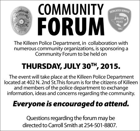 Community Forum 073015